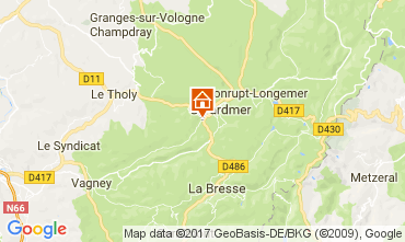 Mapa Gérardmer Chalé 112489