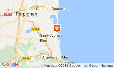 Mapa Saint Cyprien Plage Estúdio 113321
