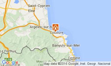 Mapa Collioure Apartamentos 103405