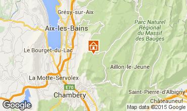 Mapa La Féclaz Chalé 65968