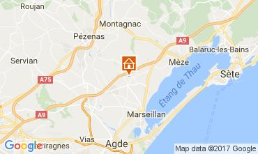 Mapa Cap d'Agde Vivenda 110387