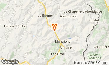 Mapa Morzine Chalé 74269