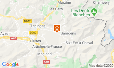 Mapa Morillon Grand Massif Chalé 40631