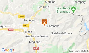 Mapa Morillon Grand Massif Chalé 40631