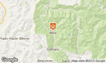 Mapa Val d'Allos Chalé 72610
