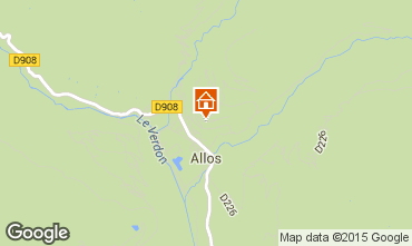 Mapa Val d'Allos Chal� 72610