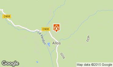 Mapa Val d'Allos Chal� 72610