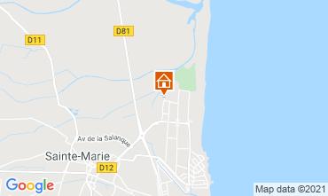 Mapa Sainte Marie la Mer Vivenda 9262