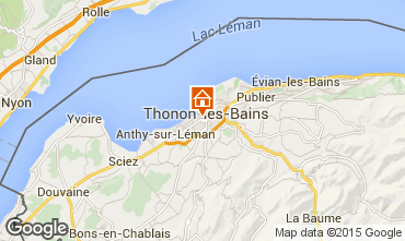 Mapa Thonon Les Bains Apartamentos 101933