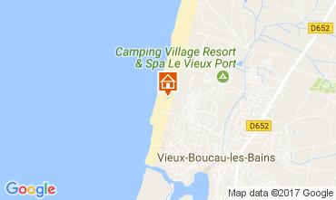 Mapa Vieux Boucau Bungalow 61605