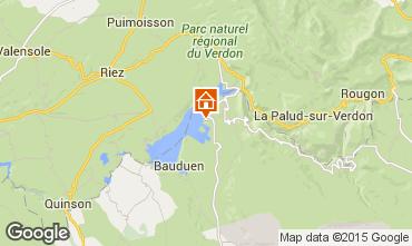 Mapa Les Salles sur Verdon Mobil Home 96624