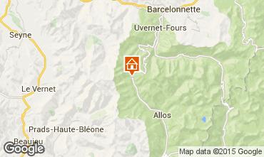 Mapa Val d'Allos Est�dio 40564