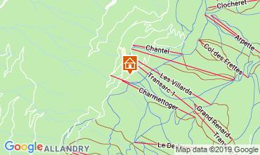 Mapa Les Arcs Apartamentos 116604
