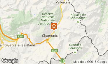 Mapa Chamonix Mont-Blanc Chalé 682