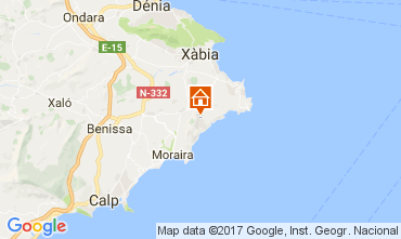 Mapa Moraira Vivenda 108971