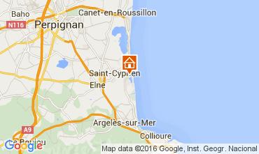 Mapa Saint Cyprien Plage Apartamentos 85319