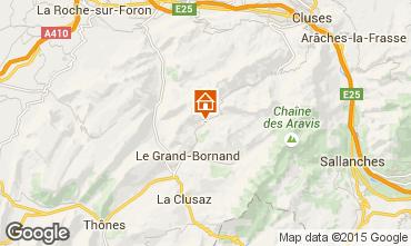 Mapa Le Grand Bornand Apartamentos 68126