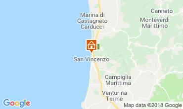 Mapa San Vincenzo Apartamentos 117083