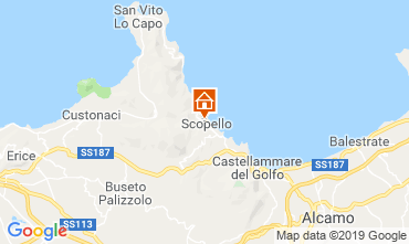 Mapa Scopello Apartamentos 112787