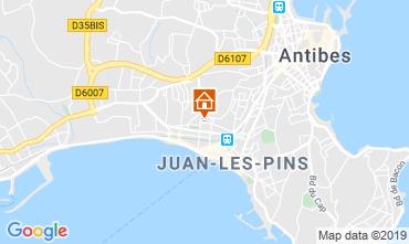 Mapa Juan les Pins Apartamentos 116732