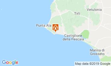 Mapa Castiglione della Pescaia Apartamentos 89159