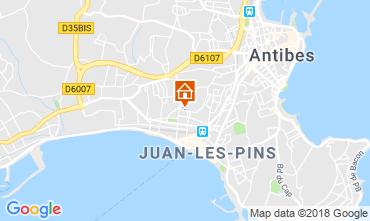 Mapa Juan les Pins Apartamentos 115721