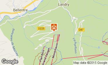 Mapa Montchavin les Coches Apartamentos 80750
