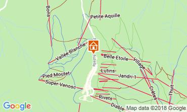 Mapa Les 2 Alpes Apartamentos 111899