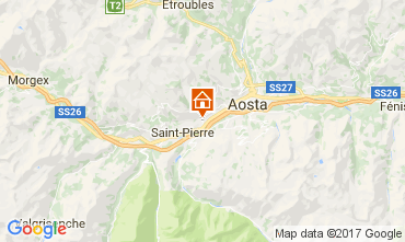 Mapa Aosta Apartamentos 73820