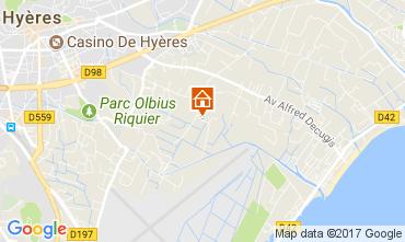 Mapa Hyères Vivenda 76796