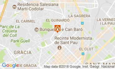 Mapa Barcelona Apartamentos 72336