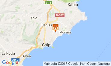 Mapa Benissa Apartamentos 108113