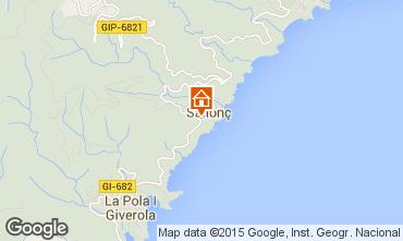 Mapa Tossa de Mar Apartamentos 81181