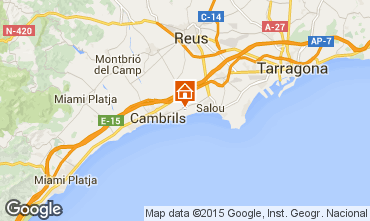 Mapa Cambrils Casa 85780
