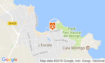 Mapa L'escala Apartamentos 114242