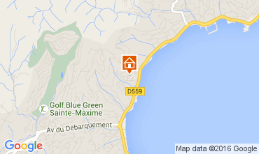 Mapa Sainte Maxime Apartamentos 97813