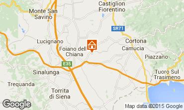 Mapa Cortona Casa de turismo rural/Casa de campo 14779