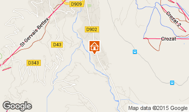 Mapa Saint Gervais Mont-Blanc Apartamentos 58587