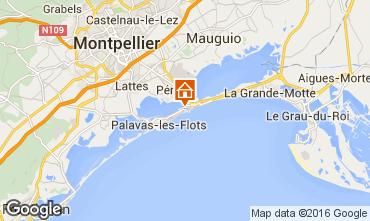 Mapa Palavas-les-Flots Apartamentos 6090
