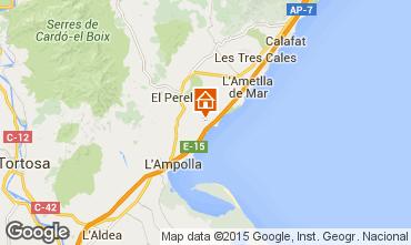 Mapa La Ametlla de Mar Chalé 102063