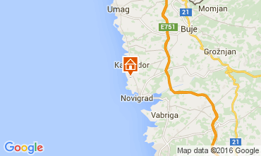 Mapa Novigrad Apartamentos 62763