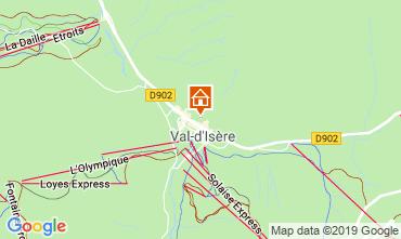 Mapa Val d'Isère Apartamentos 117667