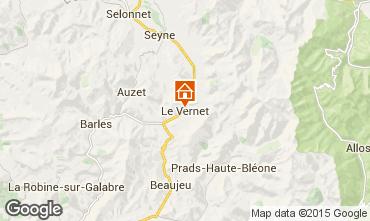 Mapa Seyne les Alpes Apartamentos 81281