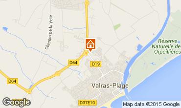 Mapa Valras-Praia Mobil Home 95160