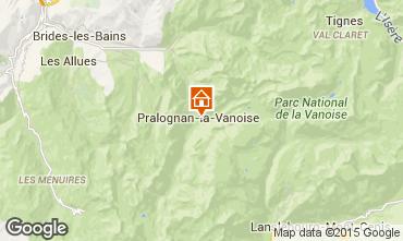 Mapa Pralognan la Vanoise Casa de turismo rural/Casa de campo 2290