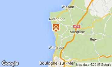 Mapa Wimereux Apartamentos 72998