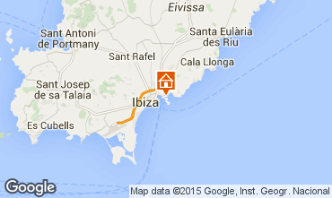 Mapa Ibiza Apartamentos 87083