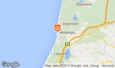 Mapa Hossegor Apartamentos 17405