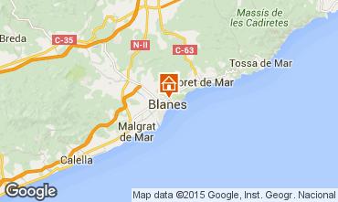 Mapa Blanes Apartamentos 98942