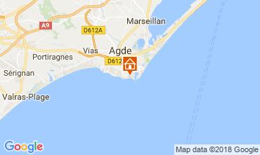 Mapa Cap d'Agde Apartamentos 95210